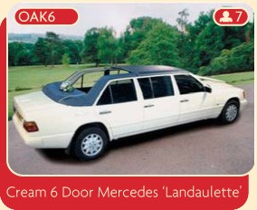 Wedding limo Manchester – a cream 6 door Mercedes Landaulette available for rental from Broadoak.