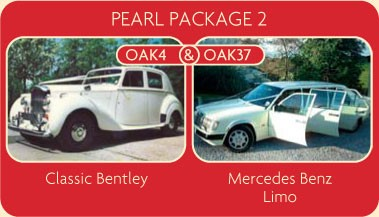 A Classic Bentley and Mercedes Benz Limo cars be hired for your wedding
